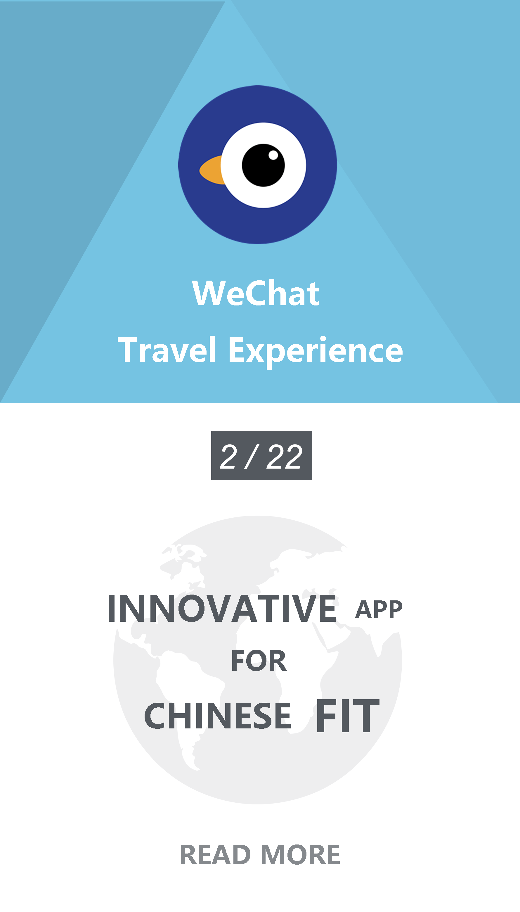 WeChat Travel Experience mini program, targeting Chinese traveller.